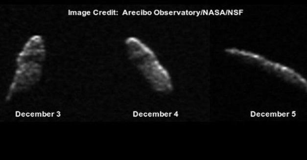 A huge asteroid 'rub' Earth on Christmas night